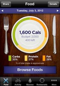 iPhone nutrition apps