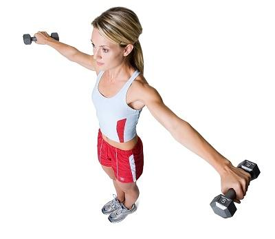 lateral raise skinny woman